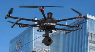 Photographie d'un des drones distribués par le Groupe Marck.