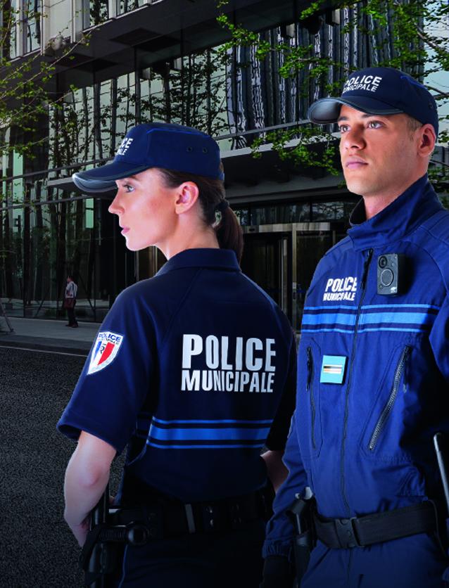 Photographie de policiers municipaux illustrant la marque Sentinel.