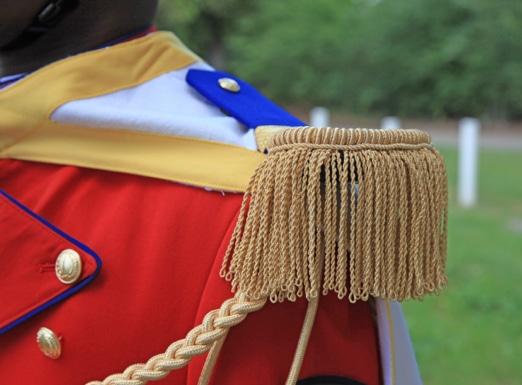 Zoom sur une épaulette de tradition.