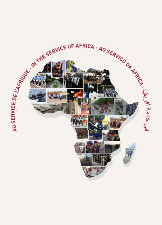 Carte de l'Afrique représentant le métier de Commercial Export;