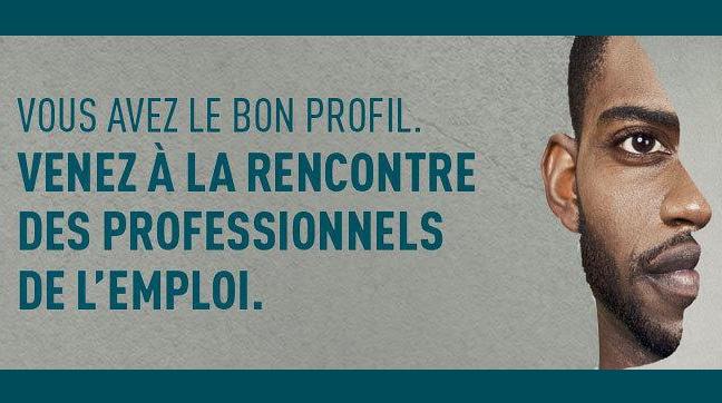 Visuel du Salon de l'emploi et des métiers de Gennevilliers 2018.