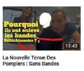 Vignette de la vidéo du Youtubeur Vincent Firelife sur la tenue des pompiers.