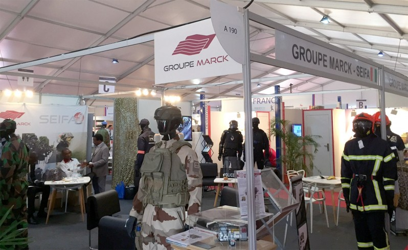 Photo du stand du Groupe Marck au salon ShieldAfrica 2017.