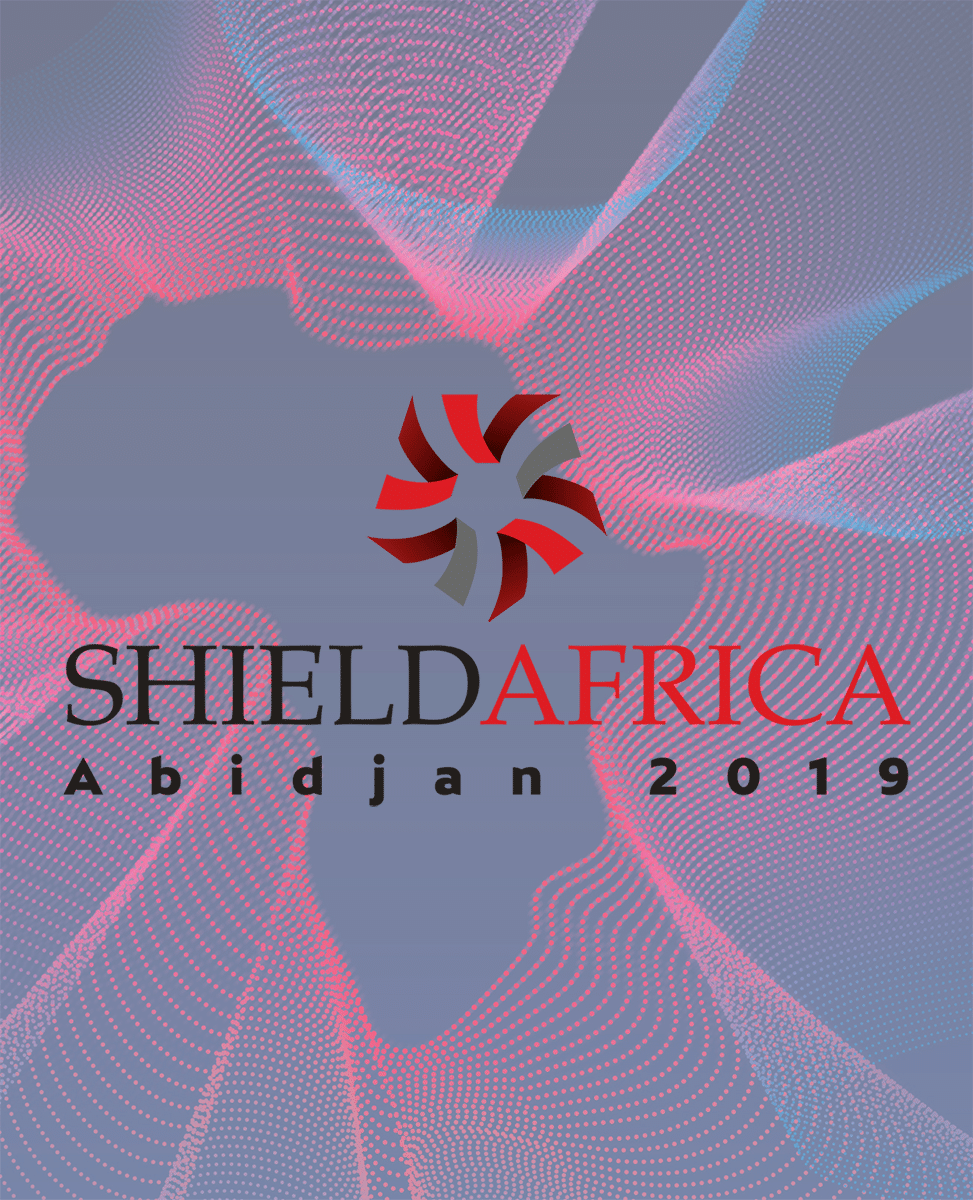 Visuel du salon ShieldAfrica 2019.